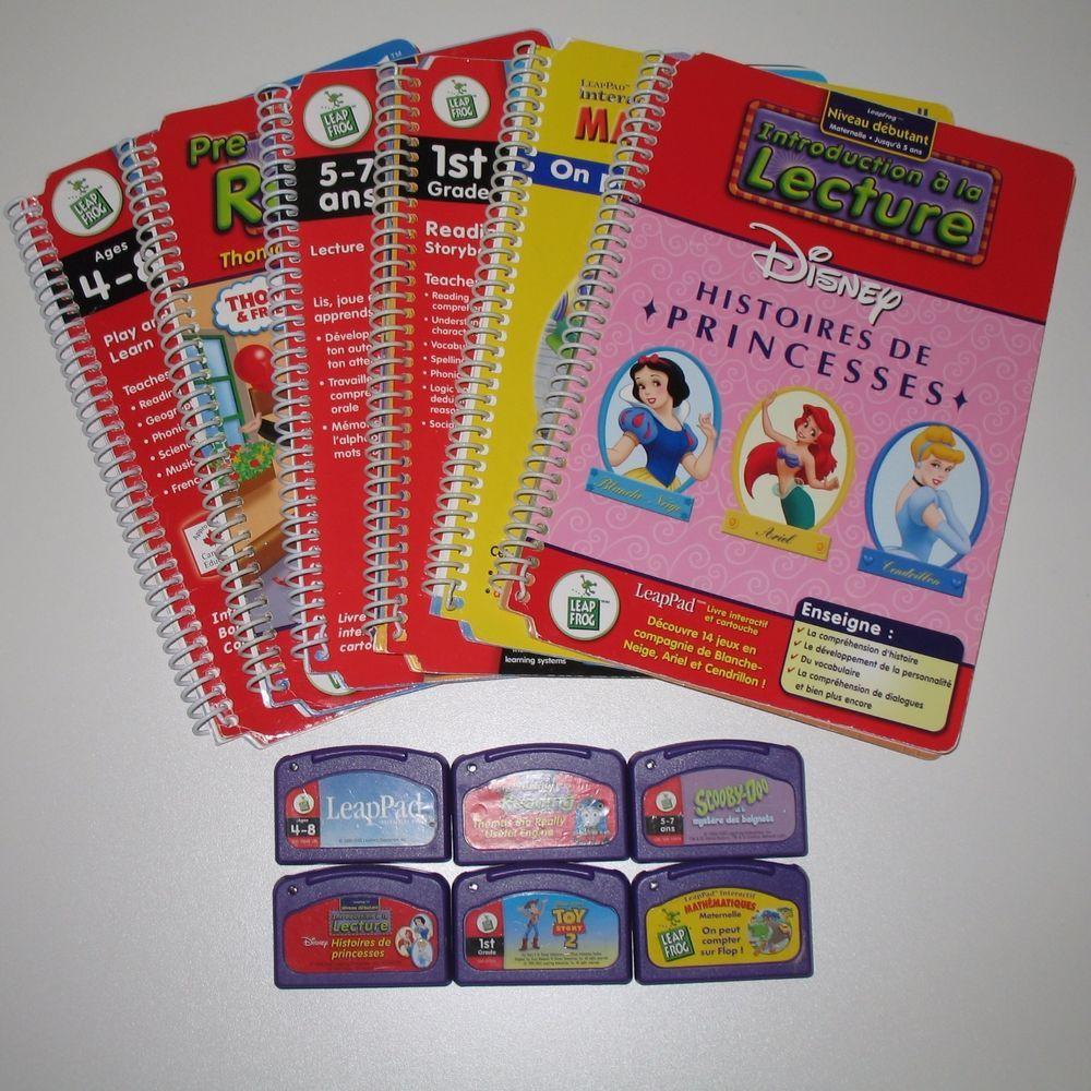 Leap Frog LeapPad Educational Books & Game Cartridges Lot