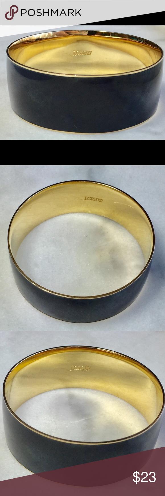 J crew thick gold u black bangle bangle jewellery bracelets and