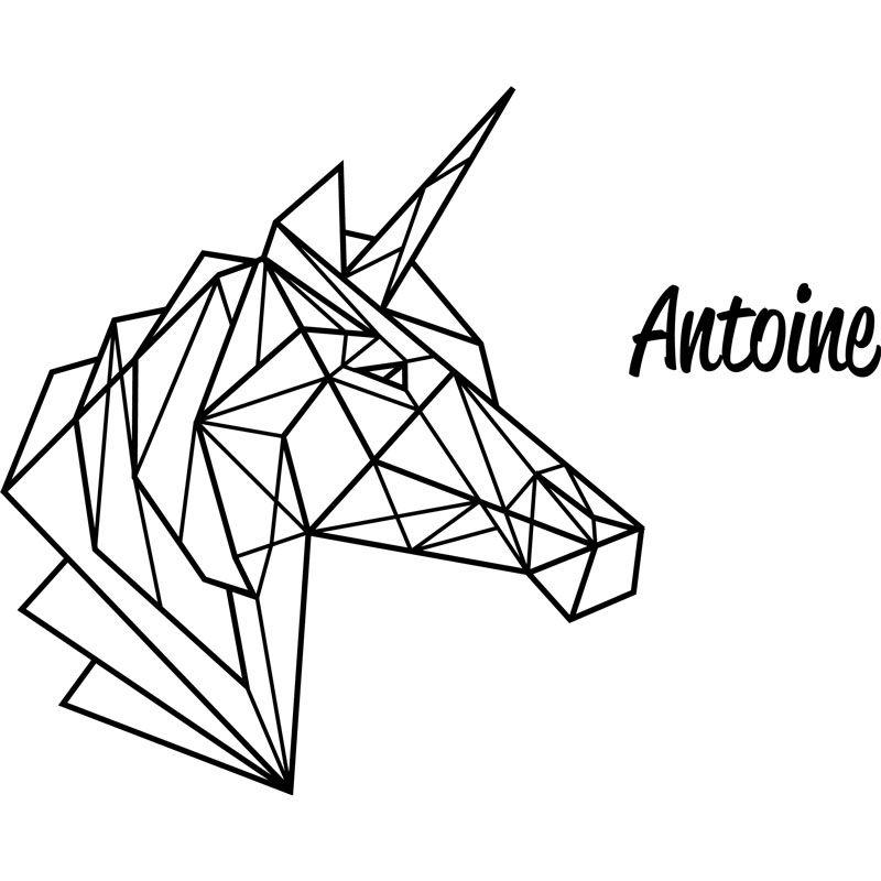 image associ e animaux origami dessin pinterest licornes origami et pr noms enfant. Black Bedroom Furniture Sets. Home Design Ideas