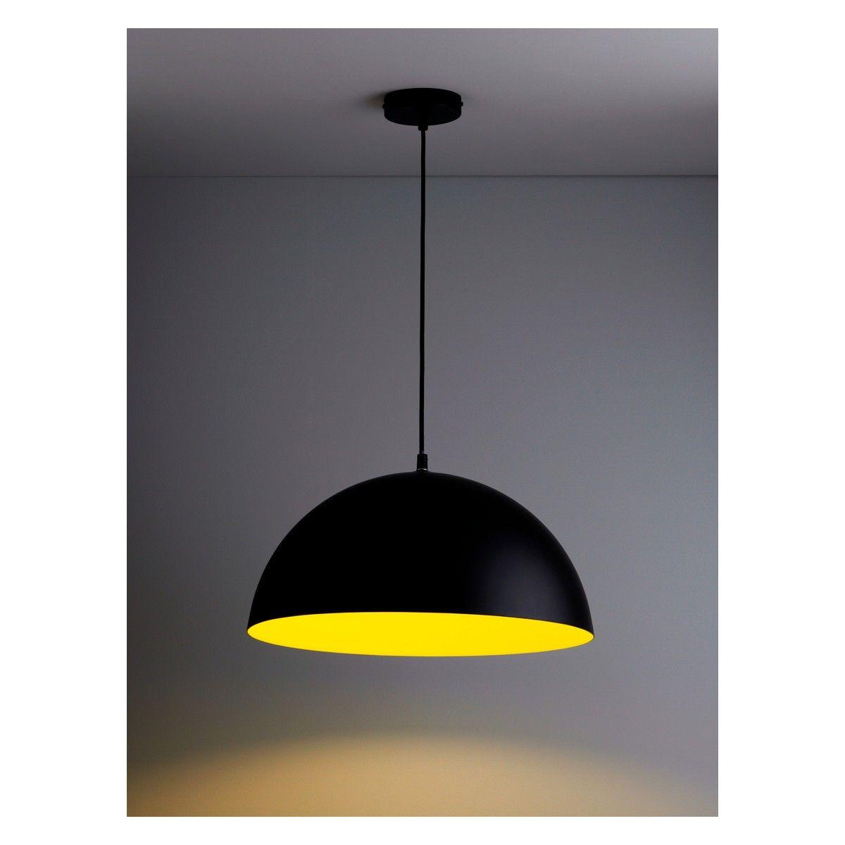 samuel metal ceiling light black and yellow buy now at habitat uk