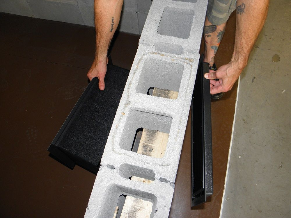 This Is Our Trim Sleeve With An 8x16 Flood Vent Being Installed In A Block Wall Flood Vents Flood Protection Block Wall