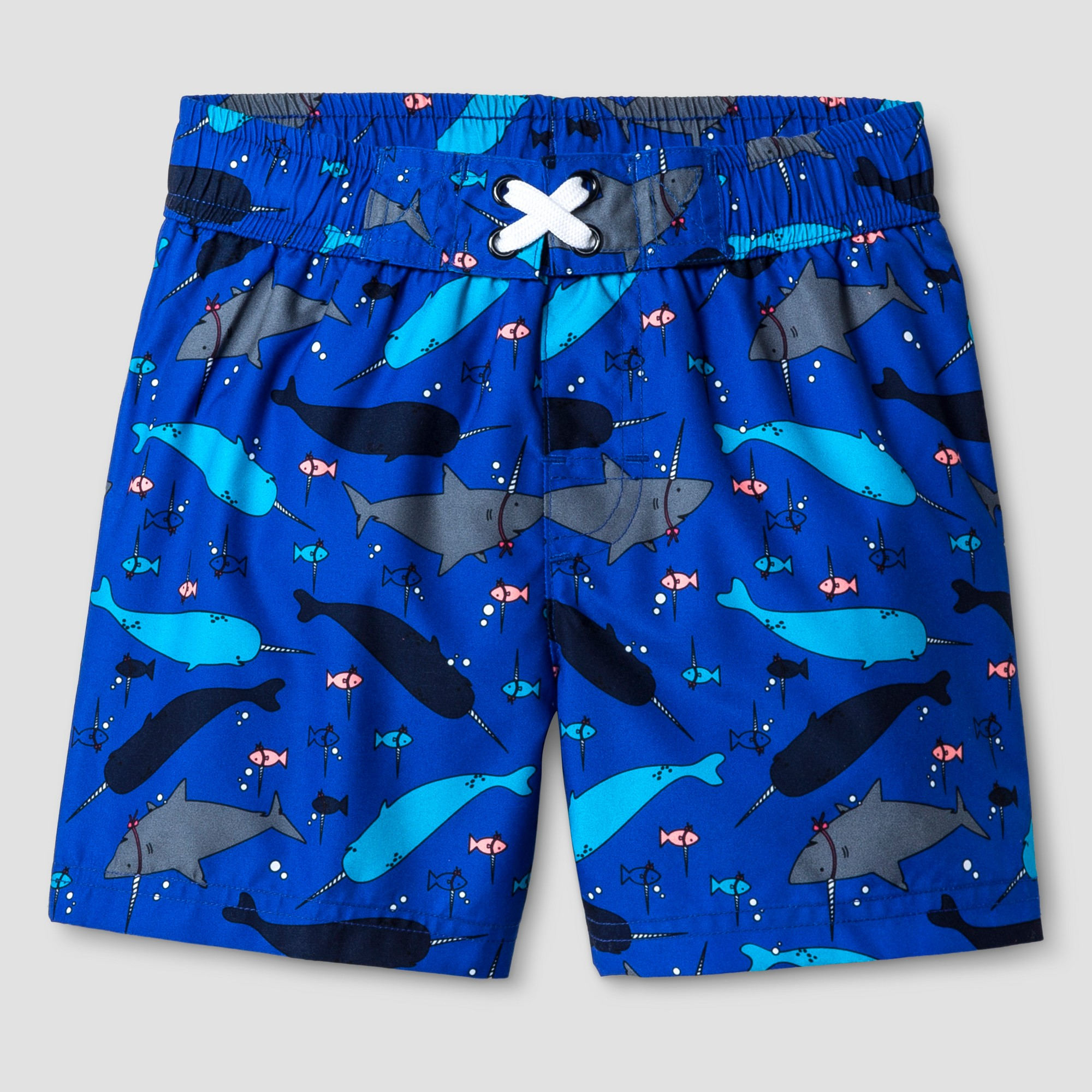 Tea Collection Toddler Baby Sharks Printed Baby Swim Trunks