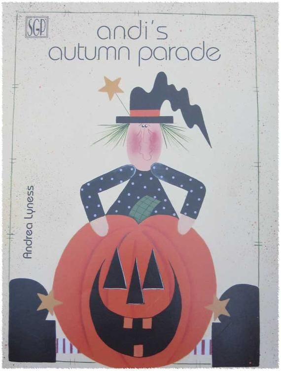 Andis Autumn Parade Tole Painting Pattern Book #tolepainting