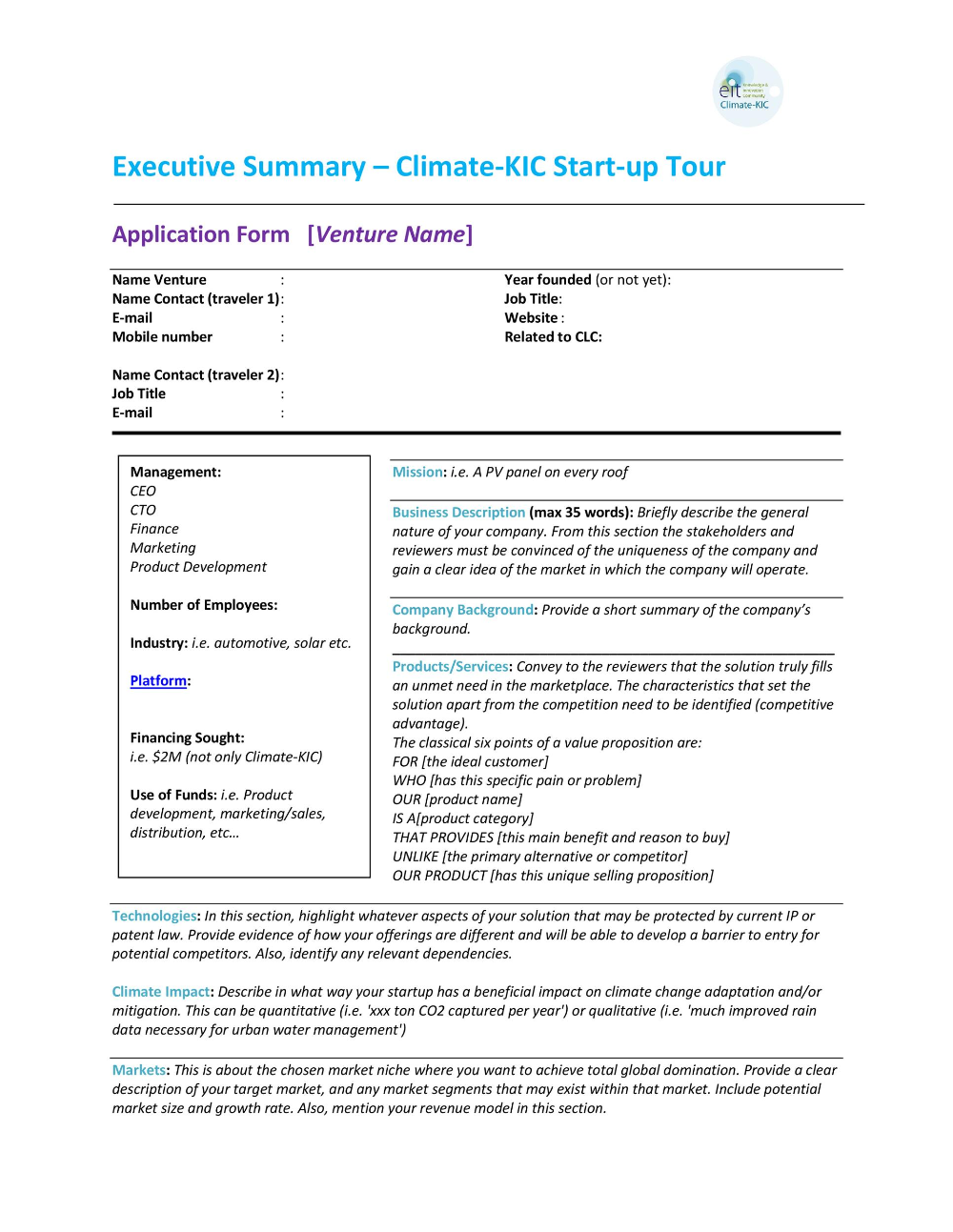 report template with executive summary  12