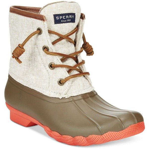 Sperry Women's Saltwater Duck Booties ($120) ❤ liked on Polyvore featuring  shoes, boots