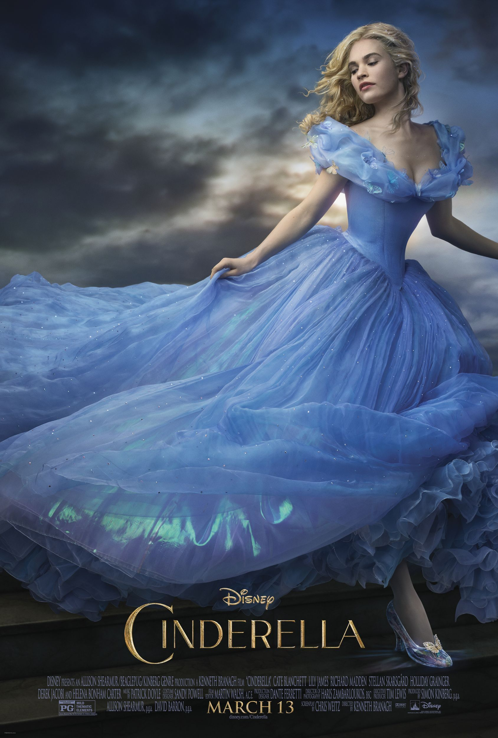 Disney\u2019s New \u201cCinderella\u201d First Look The images are flat out breathtaking, there are no scary scenes I will be nervous about taking my timid daughter to, and the trailer gives me GOOSEBUMPS! \u201cHooray!\u201d for Disney\u2019s n\u2026