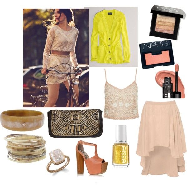 Shimmery Nudes on Polyvore