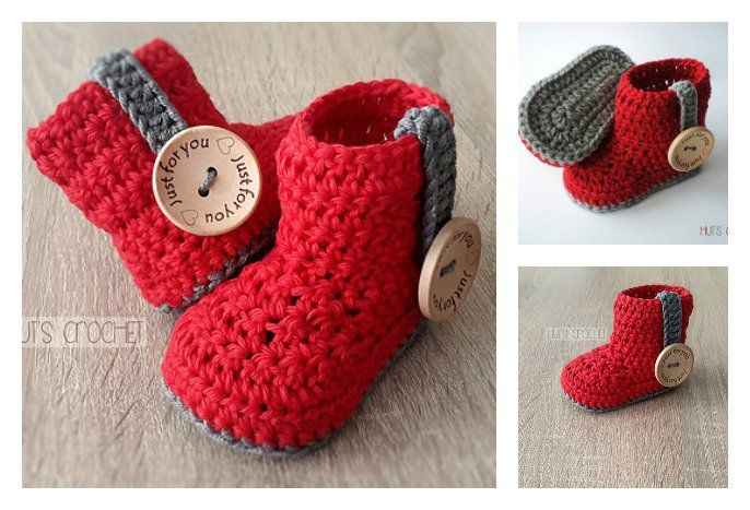 Crochet Baby Bootie Free Pattern Crocheted Baby Booties Crochet