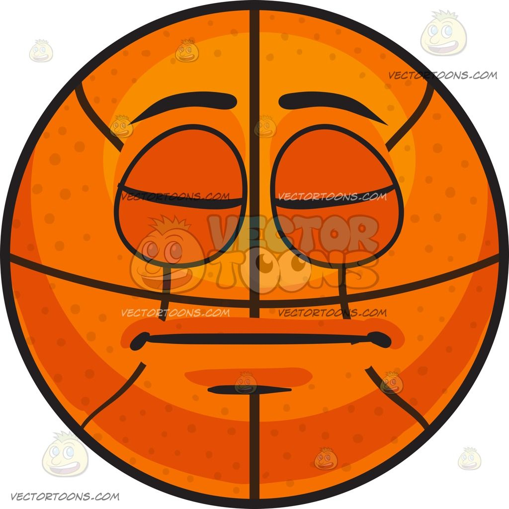 A Sleeping Basketball :  An inflated orange spherical rubber ball with black ribs divided into eight segments eyes and lips shut blank to sleep and rest  The post A Sleeping Basketball appeared first on VectorToons.com.
