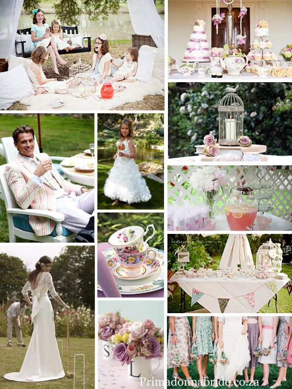 English Tea Party Theme Pink And White Chic Vintage Wedding