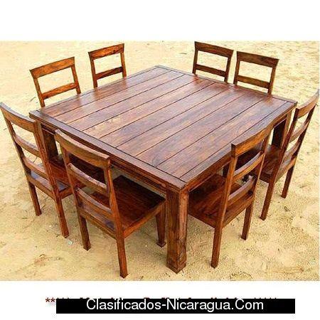 Comedor pallet pinterest comedores muebles de for Tipos de mesas de comedor