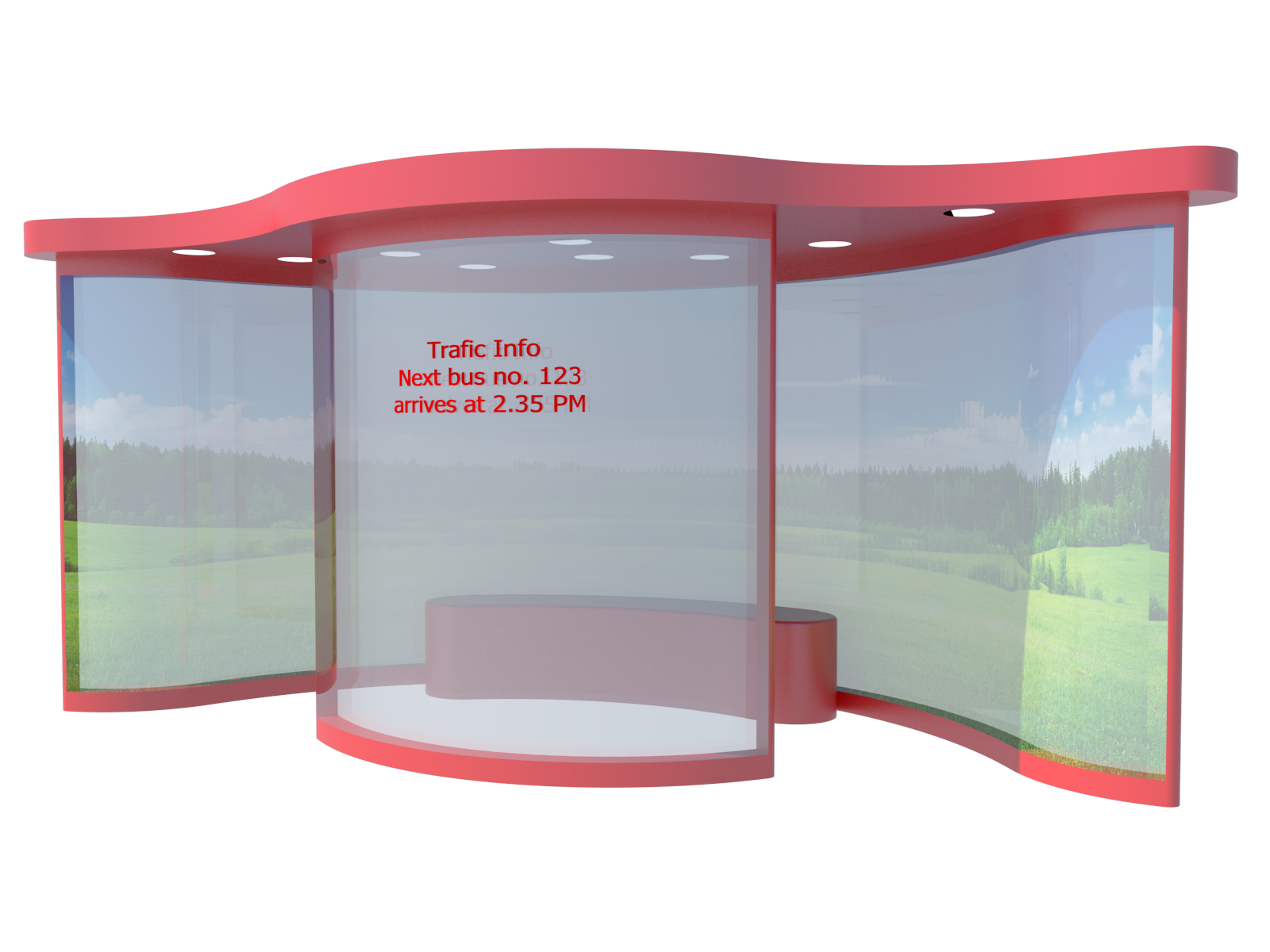 Curves New Design Of London Bus Stop Shelter By Mb The Bus Stop Is Solar Powered Lights Is Integrated With Warming And C Bus Stop Shelter Design Bus Shelters