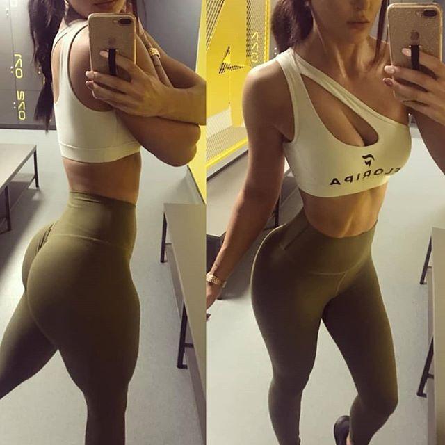 c5a700f95ab73 Glutes and cardio gains by  emilyholl92 White Strap Gym Top by Floripawear   floripaworn by
