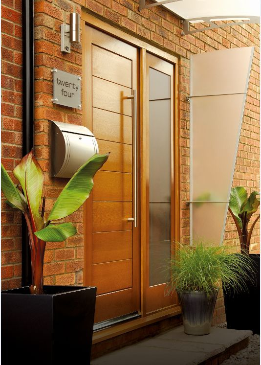 Great External Door Oak Modena, Pattern 10 Sidelight With Obscure Glass And Sidelight  Frame Kit