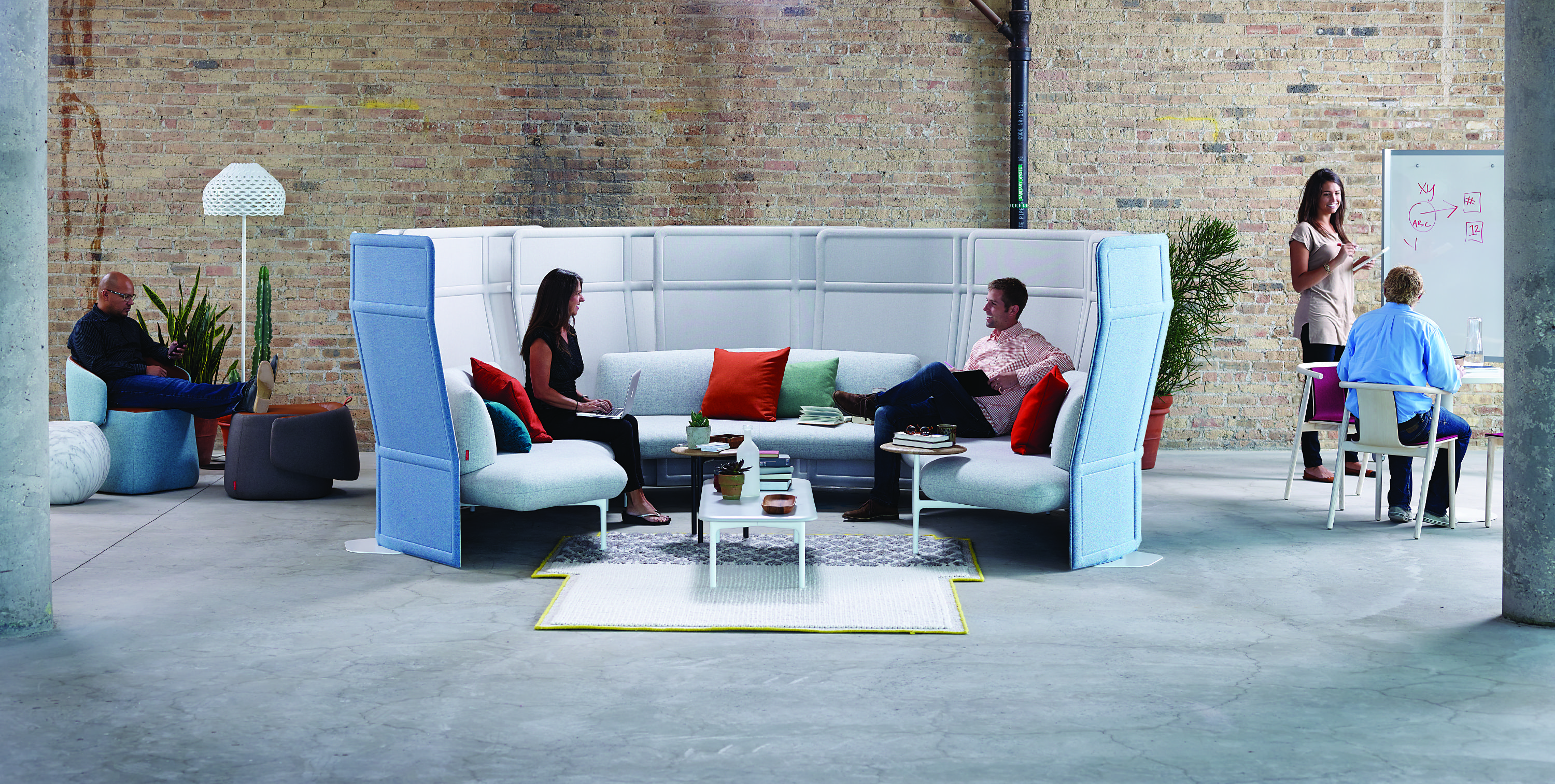 Guided By The Desire To Make People Feel Grounded And At Home While At Work Openest Elements Share A Soft Look And Feel Th Modular Sofa Haworth Lounge Seating