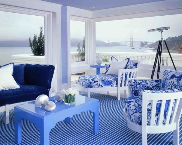 Dipped In Blueberry Monochromatic Rooms
