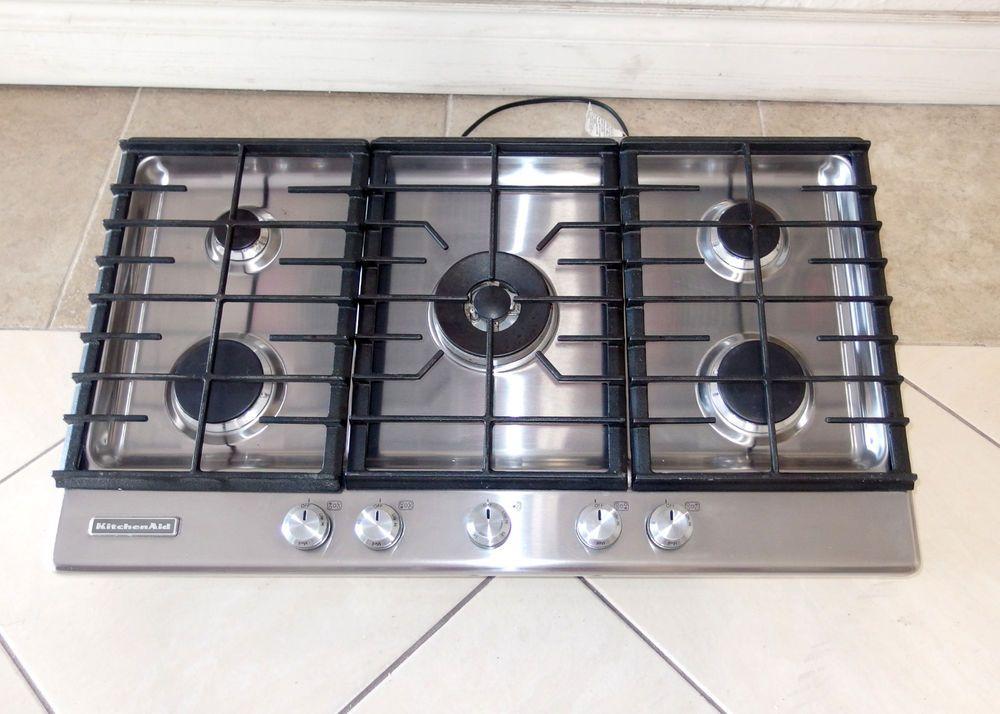 Kitchenaid Model Kfgs366vss 36 Stainless 5 Burner Gas Cooktop