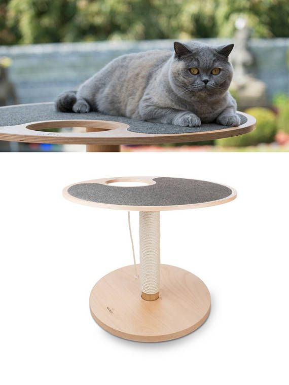 MYMIU ® Design Cat scratching post with bottom plate and 1 level I ...
