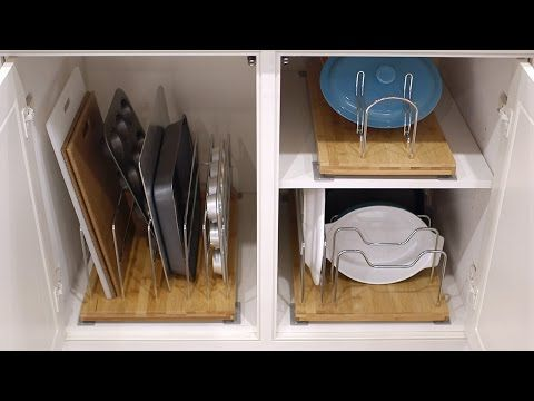 Bamboo 14 roll out kitchenware divider the container store bamboo 14 roll out kitchenware divider the container store kitchen cabinet organizerskitchen workwithnaturefo