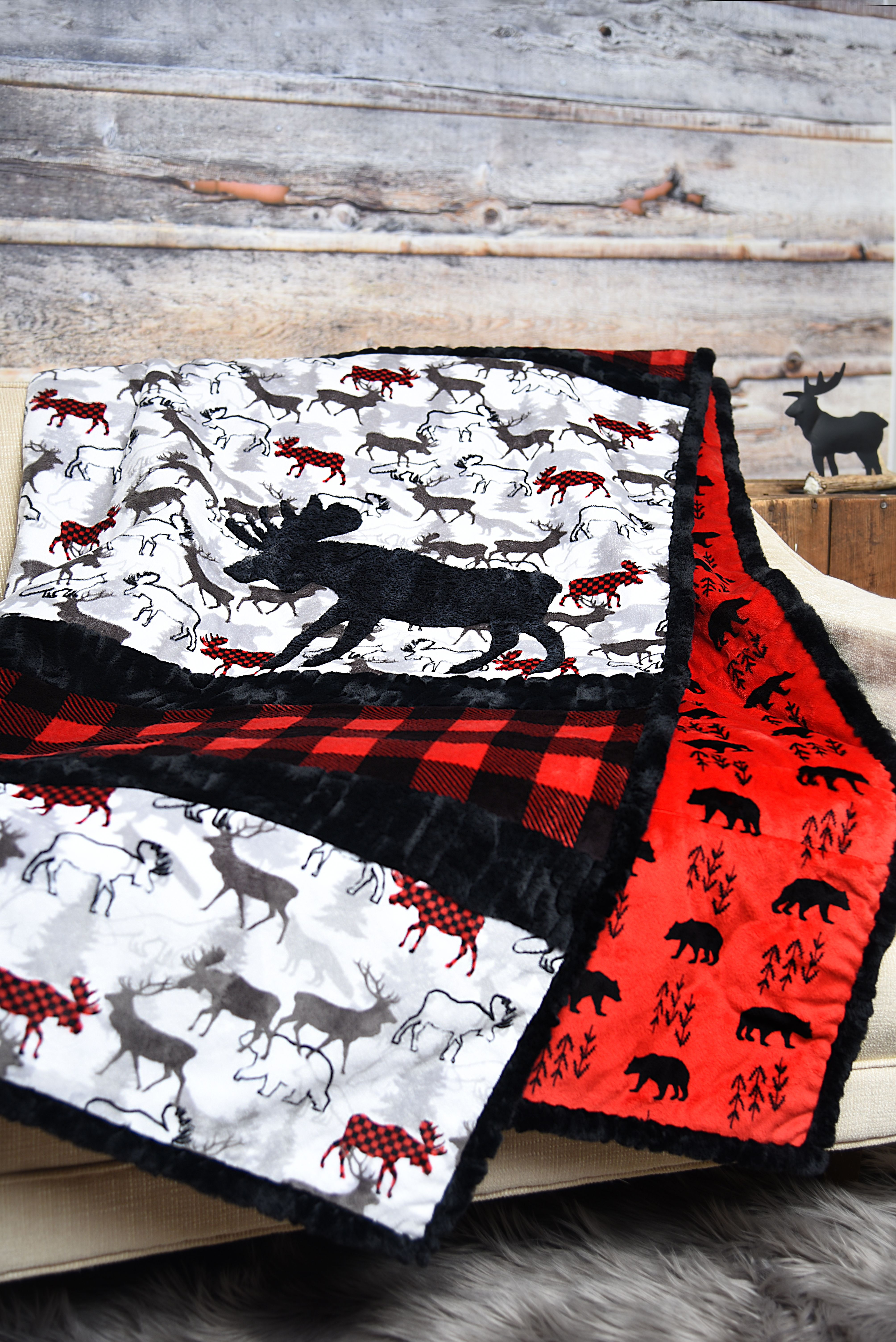 Sensational Strips Cuddle Kit A Moose D Minky Quilt Cuddling Wholesale Fabric Suppliers