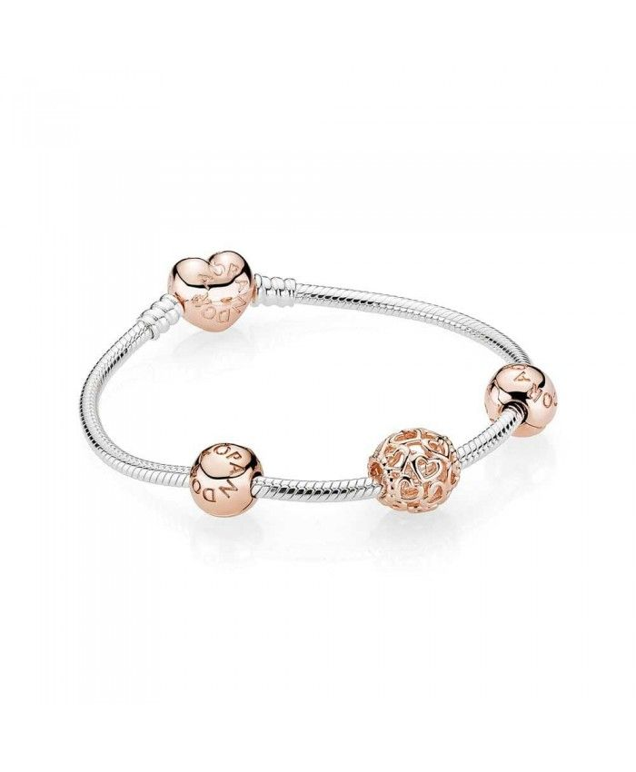 90cdcfd05 PANDORA Rose Openwork Heart Complete Bracelet B800335 The most fashionable  Pandora latest style in our store listing, welcome to buy.