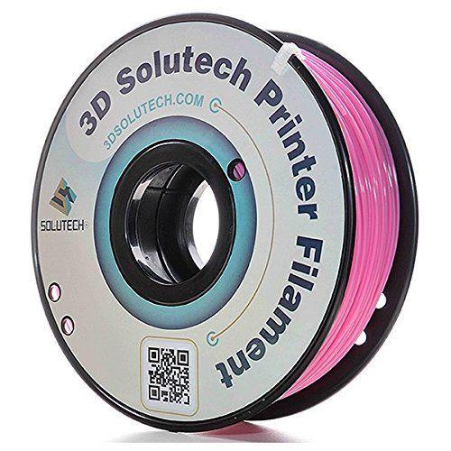 3D Solutech Real Pink 1.75mm PLA 3D Printer Filament 2.2 LBS (1.0KG) - 100% USA