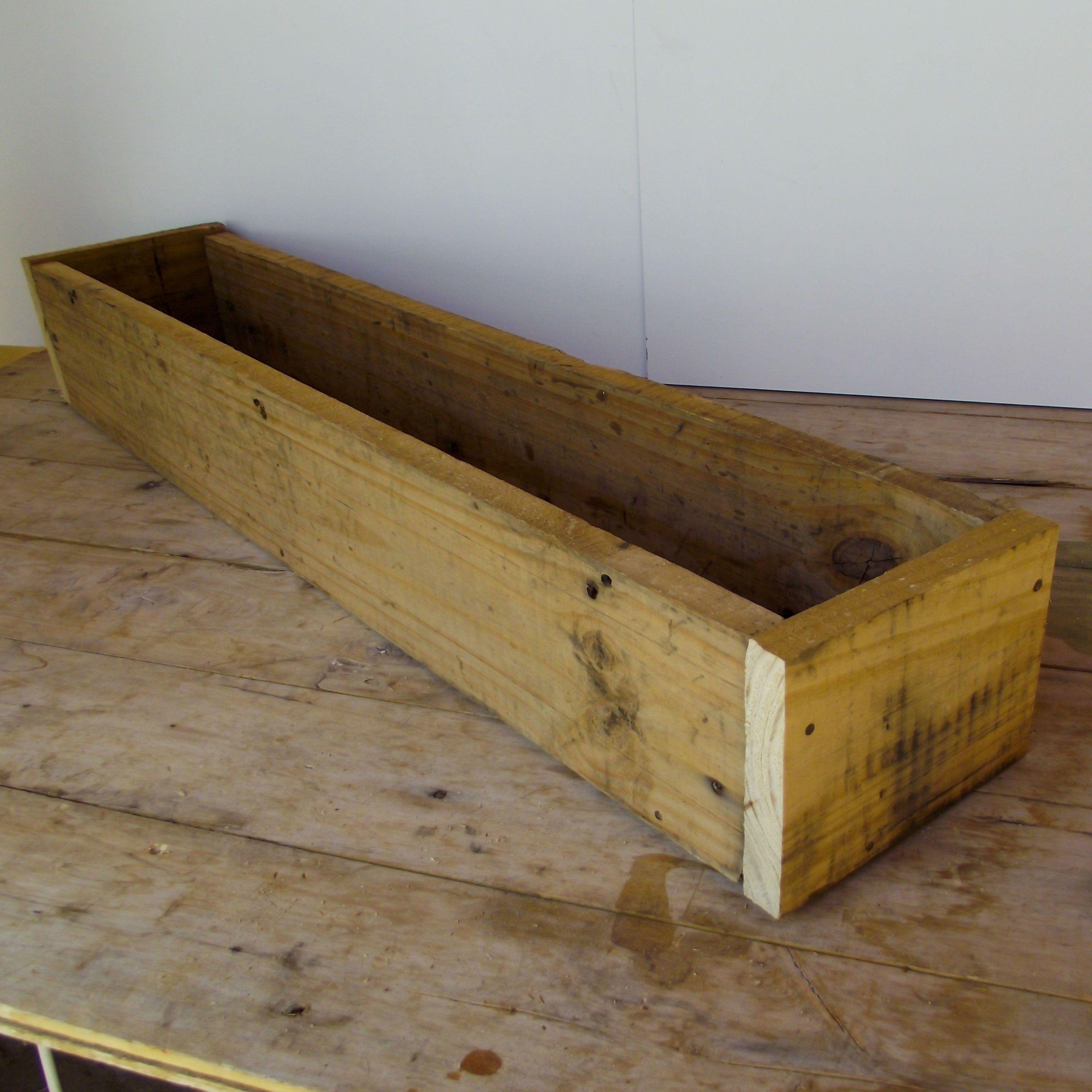 DIY Maceta de palets reciclaje | Creaciones con maderas recicladas ...