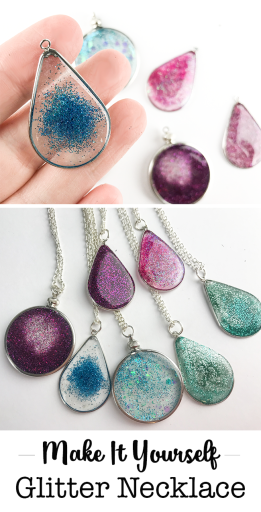 Floating glitter necklace resin jewelry tutorial pinterest make it yourself floating glitter necklace made with resin aloadofball Gallery