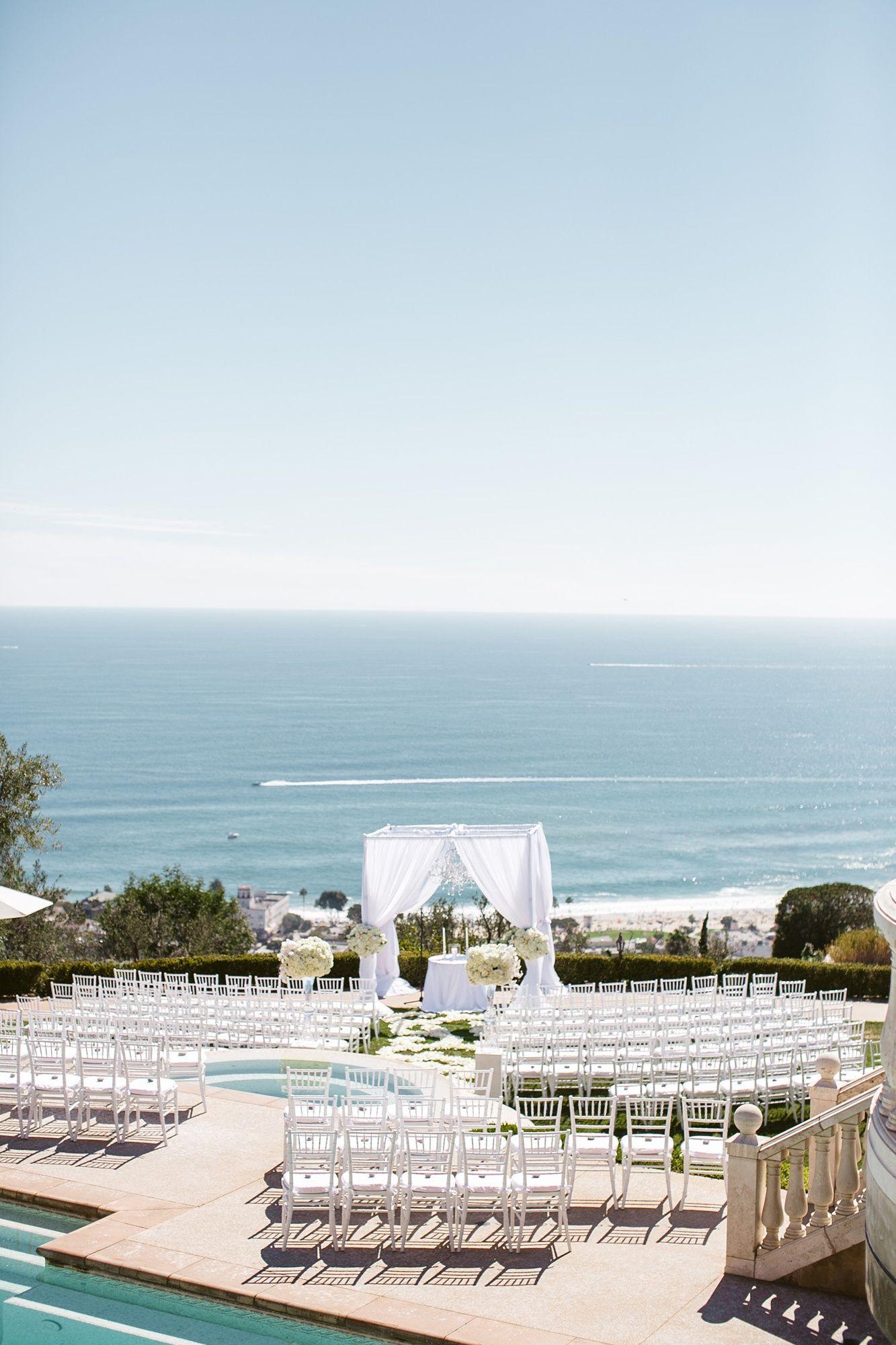 backyard wedding venues in orange county ca%0A An Elegant Seaside Wedding at Oceana Estate in Laguna Beach  California    Luxury Estate Weddings
