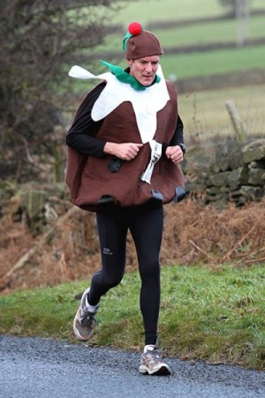Jogger in Christmas Pudding Costume  sc 1 st  Pinterest & Christmas or Plum Pudding Costumes and Dresses | Christmas pudding ...