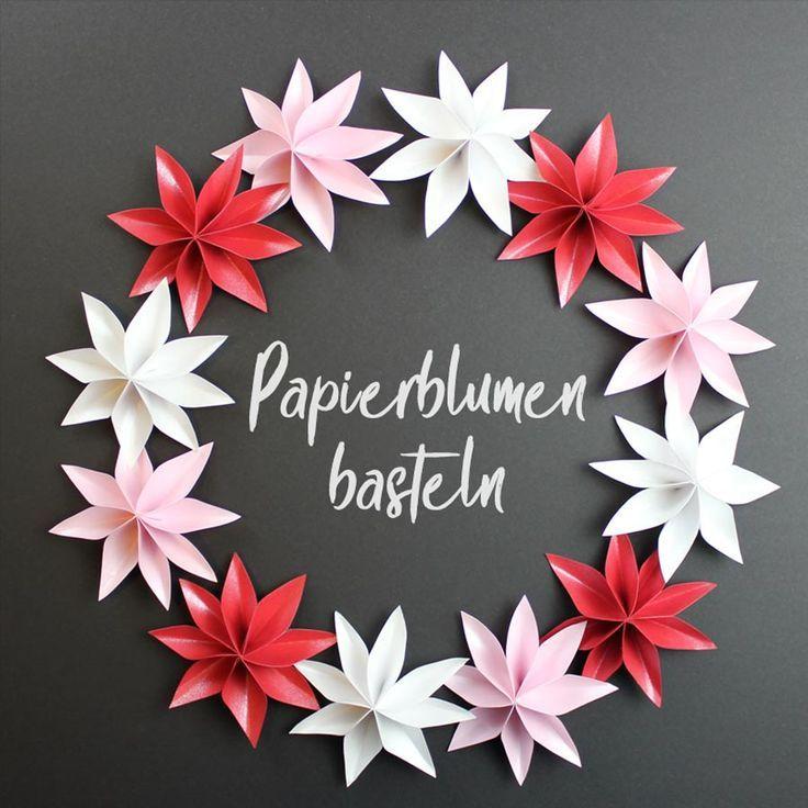 Photo of Papierblumen basteln für Tischdekoration [Plotterfreebie] – kugelig.com