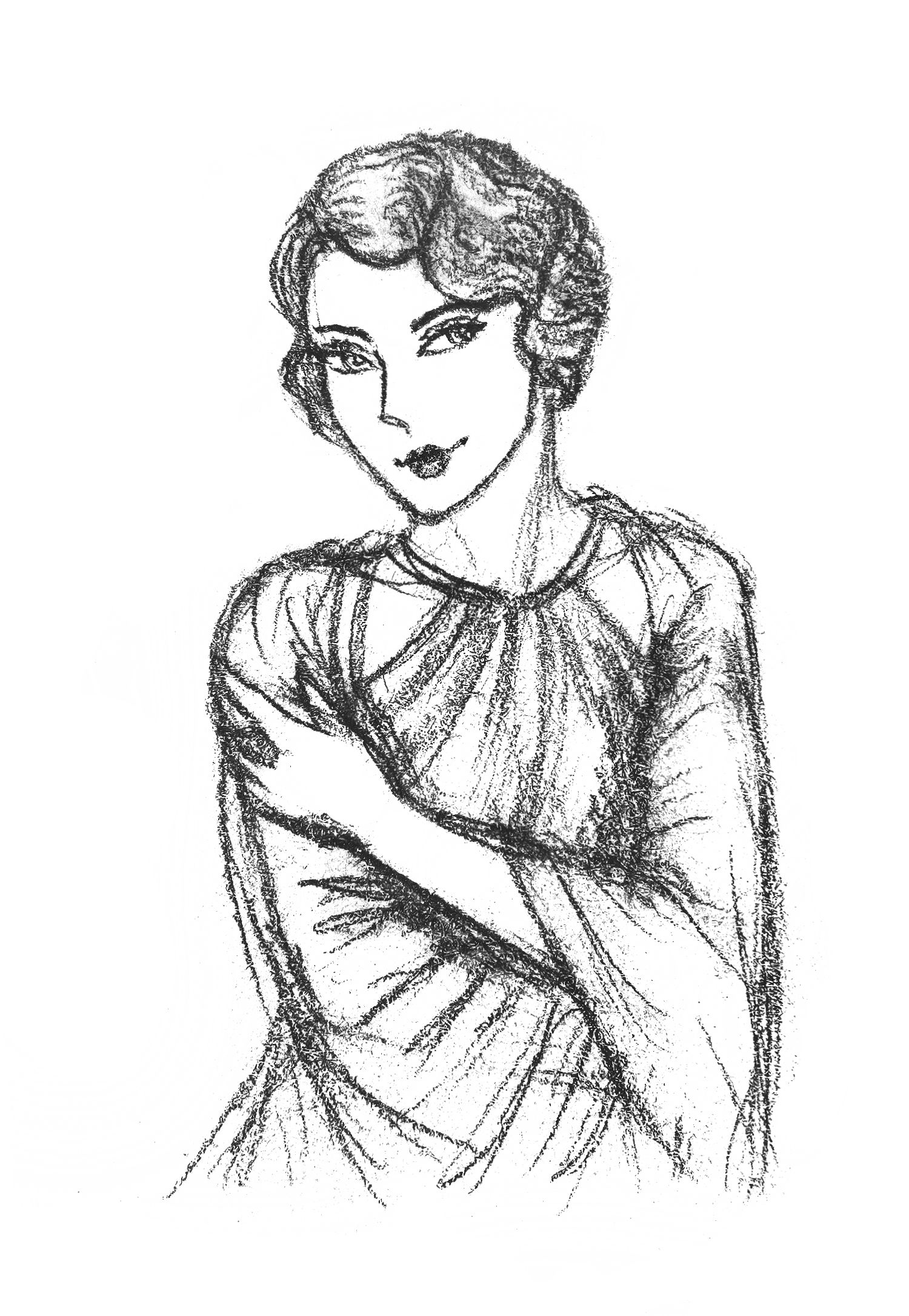 1920 woman Finger wave hair is quite a challenge for me