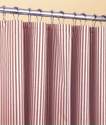 Ticking Stripes Shower Curtain Could Use This In Kitchen To Cover Ripped Out Metal Accordion Doors Where Laundry Machines Are