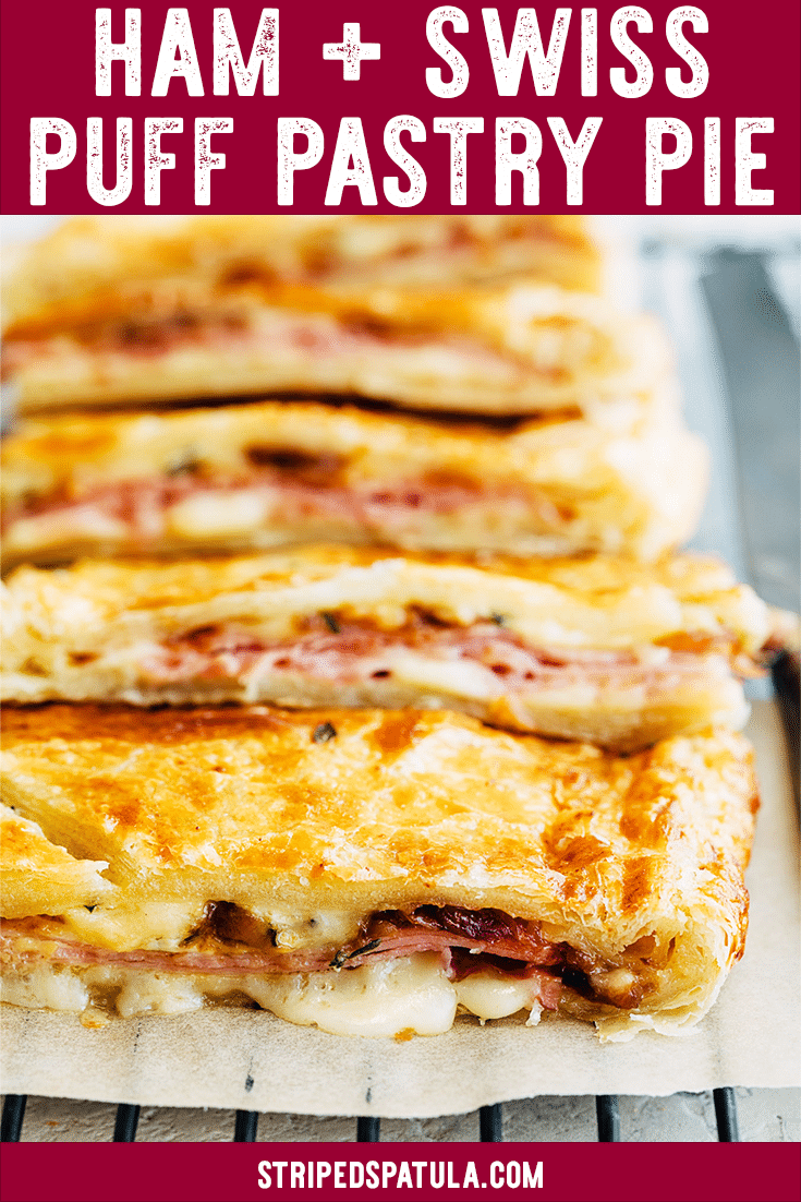 Ham and Cheese Puff Pastry Slab Pie