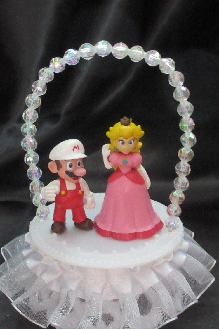 Princess Peach and Mario Wedding Cake Topper by Unique Wedding ...