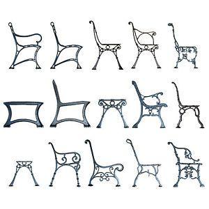 Remarkable Details About Pair Black Vintage Cast Iron Bench Ends Legs Ibusinesslaw Wood Chair Design Ideas Ibusinesslaworg