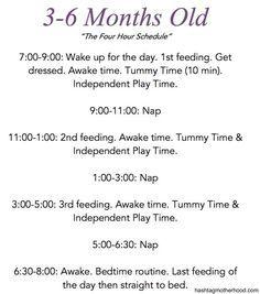 7 months baby schedule