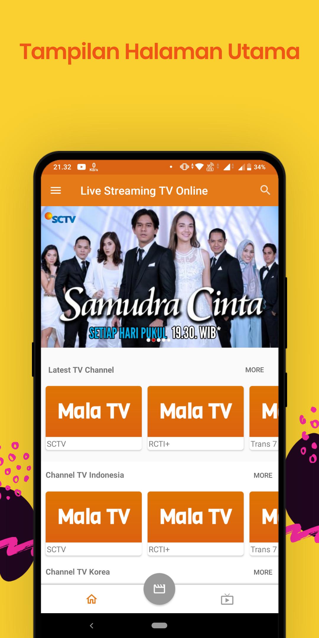 Mala TV adalah Aplikasi Live Streaming TV Online Indonesia
