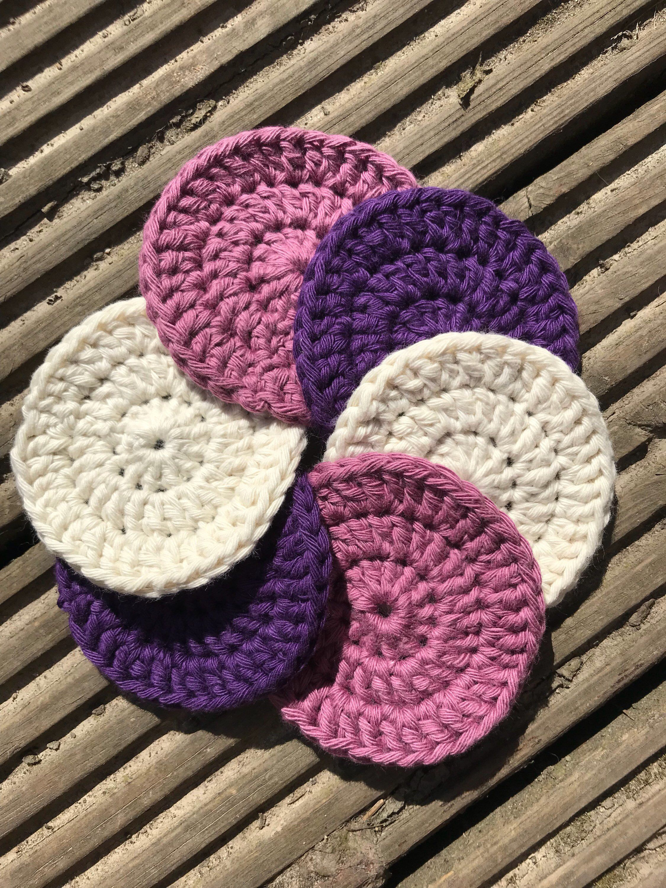 Crochet reusable make up wipes set, made to order Diy