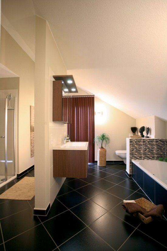 fertighaus wohnidee badezimmer musterhaus pultdachaus ventur gie en wohnideen badezimmer. Black Bedroom Furniture Sets. Home Design Ideas