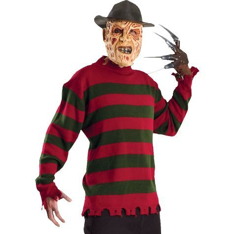 Deluxe Freddy Krueger Sweater for Adults - Party City | Halloween ...
