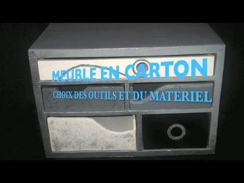 Meuble En Carton Quels Outils Choisir Demonstration Youtube Meuble En Carton Mobilier De Salon Carton