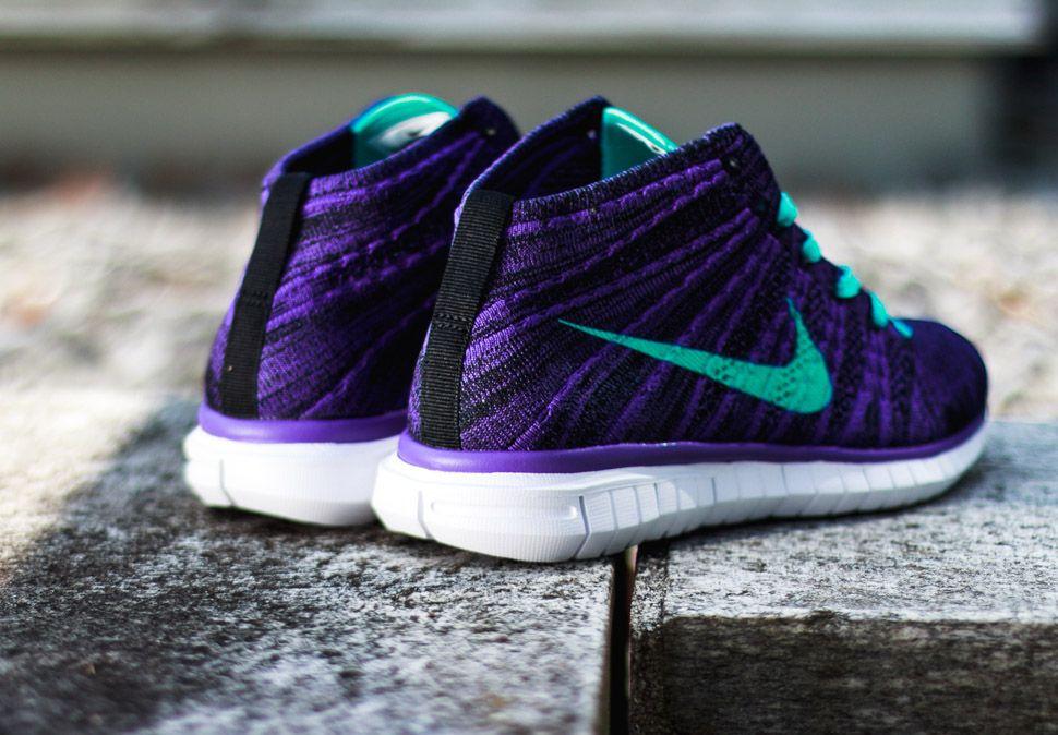 Nike Flyknit Gratuit Chukka Sous-marin Jaune