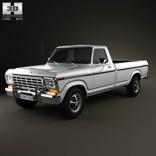 ford f150 1978 3d model from humster3d. price: $75   ford 3d