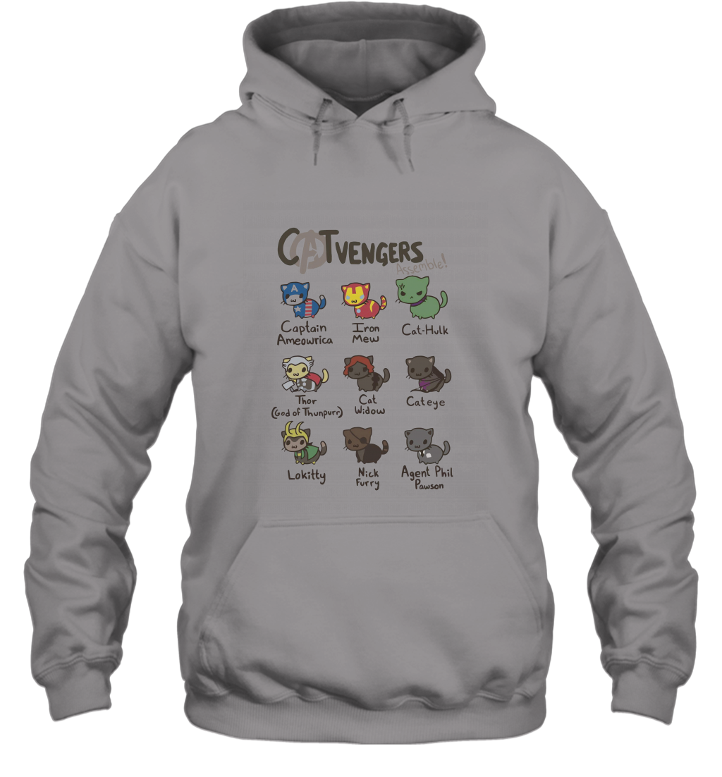 Cat avenger  Funny Cat Shirts Hooded #funnycatshirts
