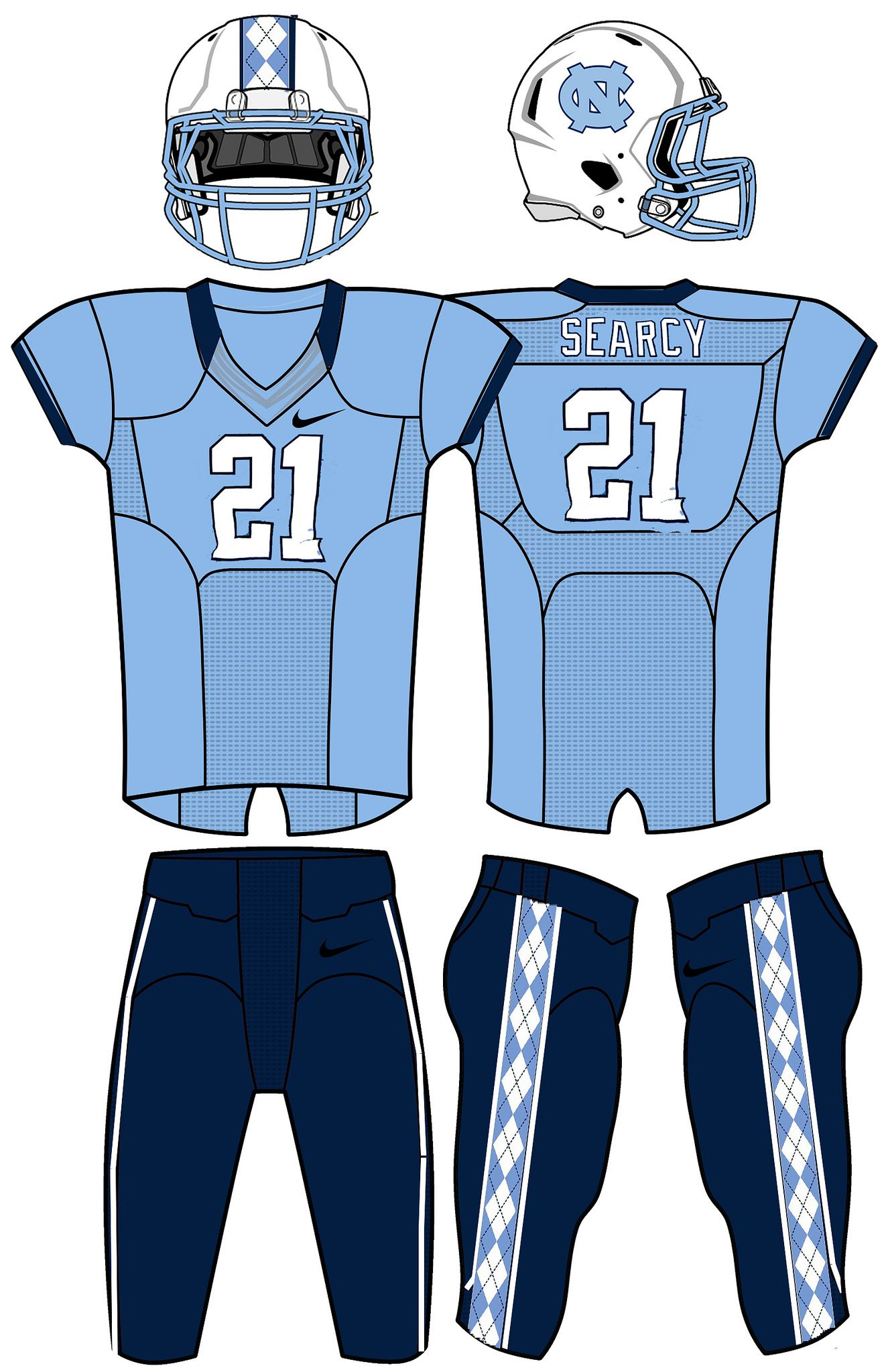 Unc Tar Heels Concepts All Uniforms Are Interchangeable
