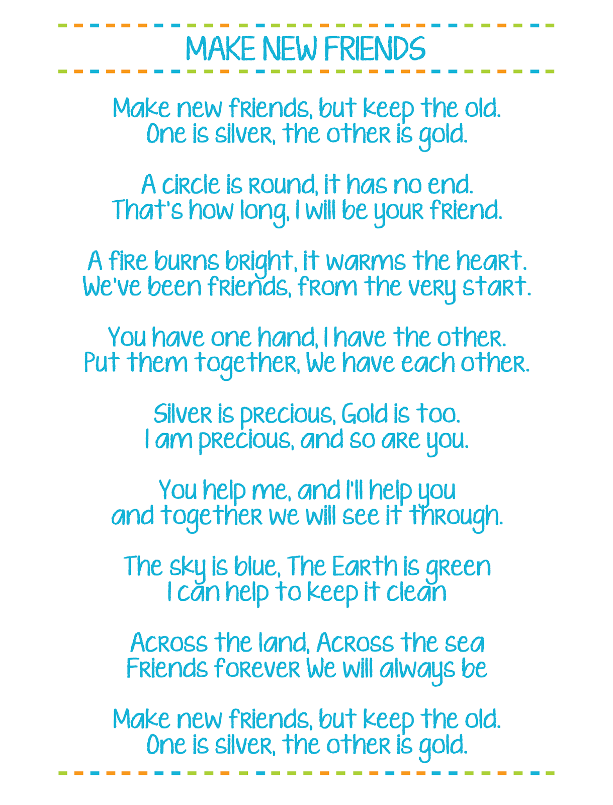 Girl Scout Friendship Song : scout, friendship, There, Verses, Friends, Song., Willing, Second, Ve…, Scout, Songs,, Bridging,, Camping