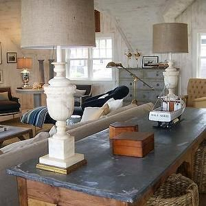 Nate berkus design living rooms vintage lamps vintage table lampshade updates old alabaster lamp base aloadofball