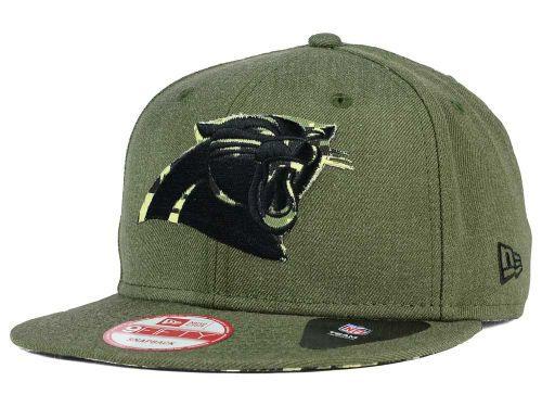 Carolina Panthers New Era NFL Salute to Service Sgt Patch 9FIFTY Snapback  Cap Hats b5deb7666