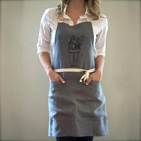 kitchen apron, grey/black | foodie gifts | pinterest | kitchen